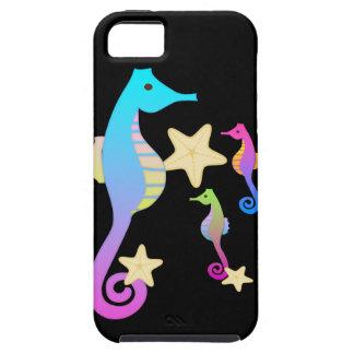 Crazy Colored Sea Horses iPhone SE/5/5s Case