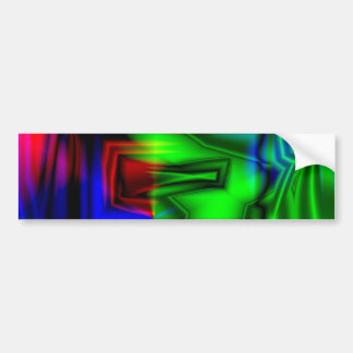 Crazy Colorful Bumper Sticker