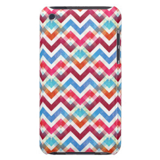 Crazy Colorful Chevron Stripes Zig Zags Pink Blue iPod Touch Case-Mate Case