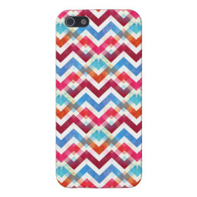 Crazy Colorful Chevron Stripes Zig Zags Pink Blue iPhone 5 Covers