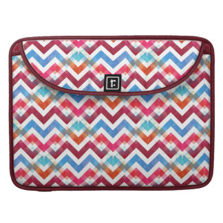 Crazy Colorful Chevron Stripes Zig Zags Pink Blue Sleeve For MacBook Pro