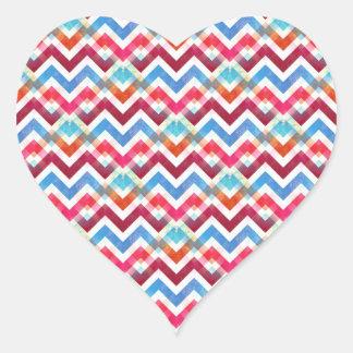Crazy Colorful Chevron Stripes Zig Zags Pink Blue Sticker