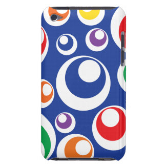 Crazy Colorful Circle Balls Blue Pattern iPod Touch Case-Mate Case