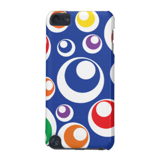 Crazy Colorful Circle Balls Blue Pattern iPod Touch 5G Covers
