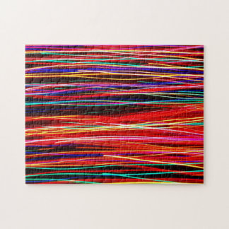 Crazy Colorful Light Streaks Jigsaw Puzzle
