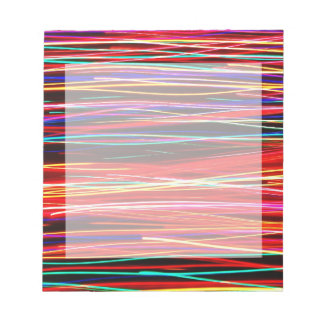 Crazy Colorful Light Streaks Notepad