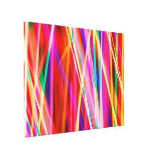 Crazy Colorful Lights Canvas Print