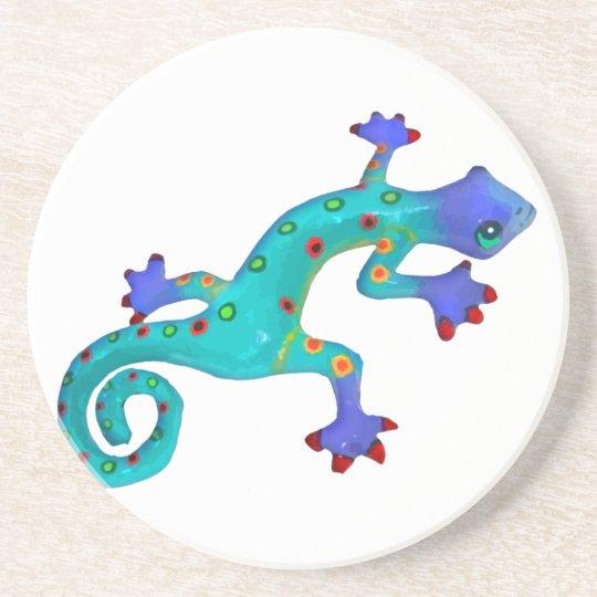 Crazy Colorful Lizard Drink Coaster