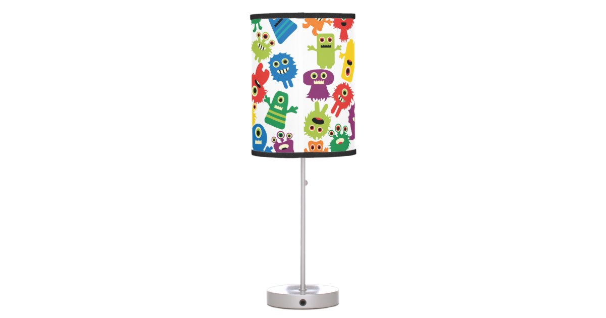Crazy Colorful Monsters Kids Table Lamp Zazzle