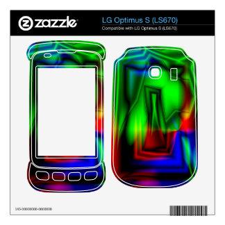 Crazy Colorful LG Optimus S Skins