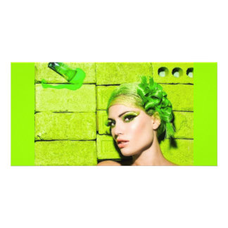 crazy_colors_1 Green Fashion Model beauty style Card