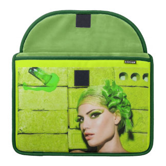 crazy_colors_1 Green Fashion Model beauty style MacBook Pro Sleeves