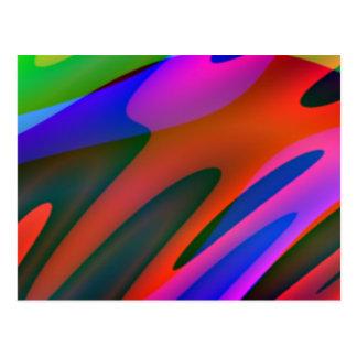 Crazy Colors 3 Postcard