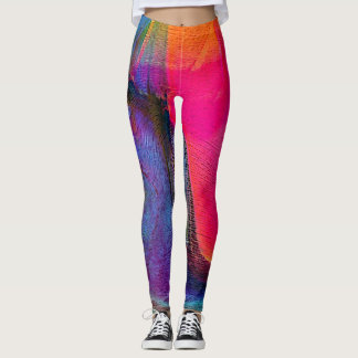 Crazy Colors Abstract Art Women's Leggings