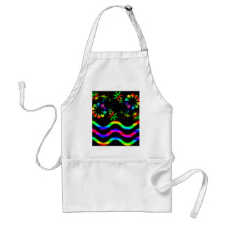 Crazy colors and shapes adult apron