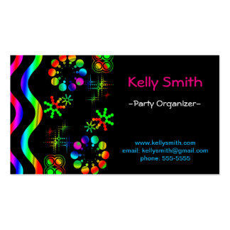 Crazy colors and shapes business card