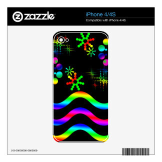 Crazy colors and shapes iPhone 4S skin