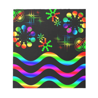 Crazy colors and shapes notepad