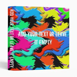 Crazy colors binder