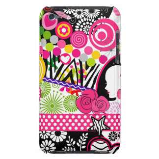 Crazy colors collage iPod touch cases