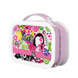 Crazy colors collage lunchboxes