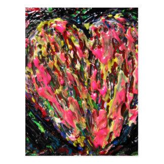 crazy colors crazy love post cards
