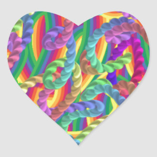 Crazy colors game, neon heart stickers