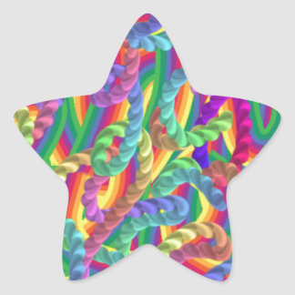 Crazy colors game, neon star stickers