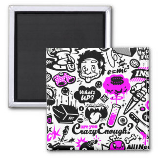 Crazy  Combo 2 Inch Square Magnet