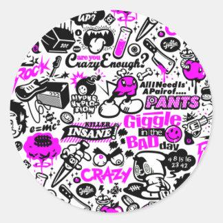 Crazy  Combo Classic Round Sticker
