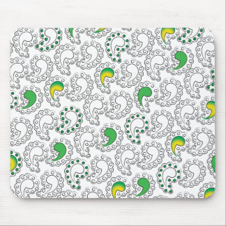 Crazy Comma Paisley Pattern Mouse Pad