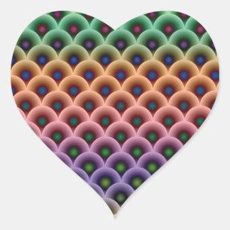 Crazy Concentric Circles Heart Sticker