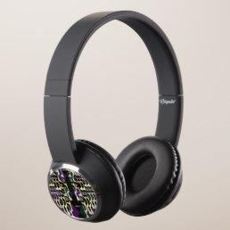 Crazy Cool Cheetah Triangle Pattern Headphones