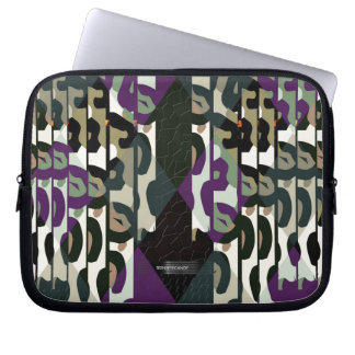 Crazy Cool Cheetah Triangle Pattern Laptop Sleeve