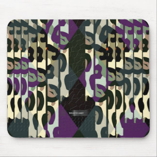 Crazy Cool Cheetah Triangle Pattern Mouse Pad