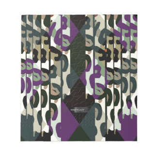 Crazy Cool Cheetah Triangle Pattern Notepad