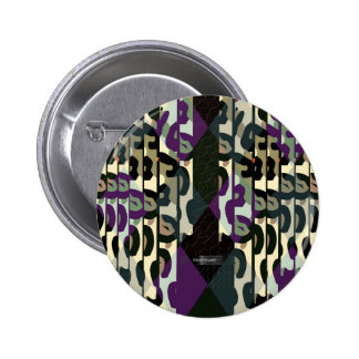 Crazy Cool Cheetah Triangle Pattern Pinback Button