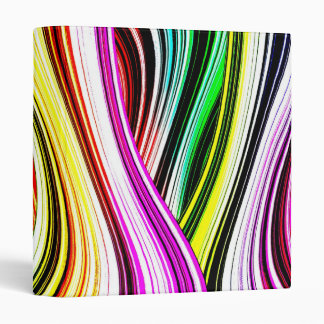 Crazy Cool Colorful Lines 3 Ring Binder