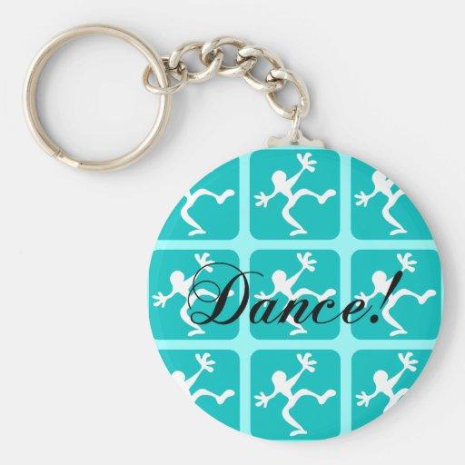 Crazy cool dance basic round button keychain