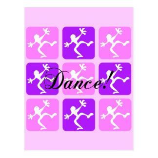 Crazy cool dance postcard