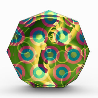 Crazy Cool Psychedelic Rainbow Abstract Award