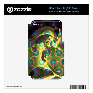 Crazy Cool Psychedelic Rainbow Abstract Decal For iPod Touch 4G