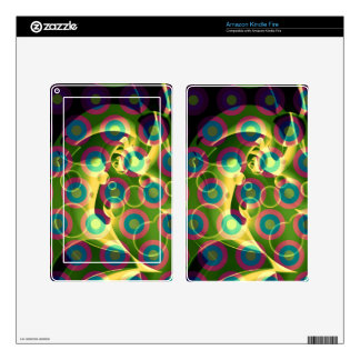 Crazy Cool Psychedelic Rainbow Abstract Decals For Kindle Fire