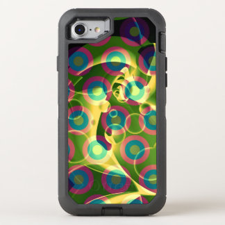 Crazy Cool Psychedelic Rainbow Abstract OtterBox Defender iPhone 7 Case