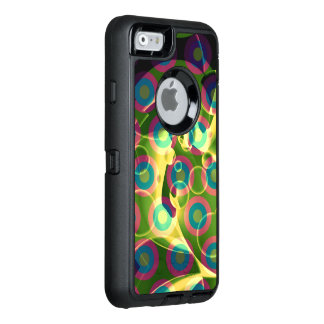 Crazy Cool Psychedelic Rainbow Abstract OtterBox Defender iPhone Case