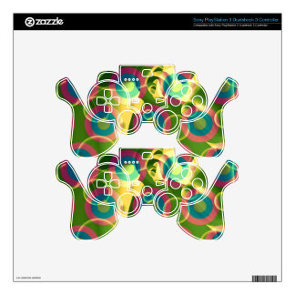 Crazy Cool Psychedelic Rainbow Abstract PS3 Controller Skin