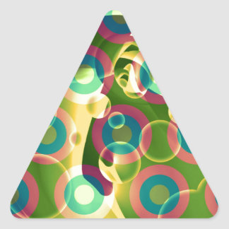 Crazy Cool Psychedelic Rainbow Abstract Triangle Sticker