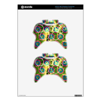 Crazy Cool Psychedelic Rainbow Abstract Xbox 360 Controller Decal