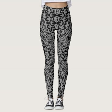 Halloween Themed Crazy Cool Silver Ghost Halloween Mandala Leggings