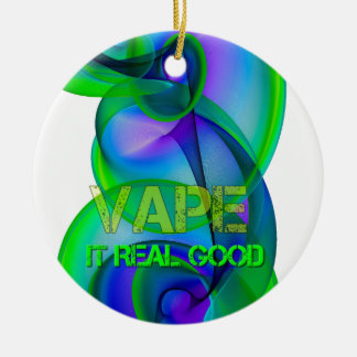 Crazy Cool Vape Ceramic Ornament